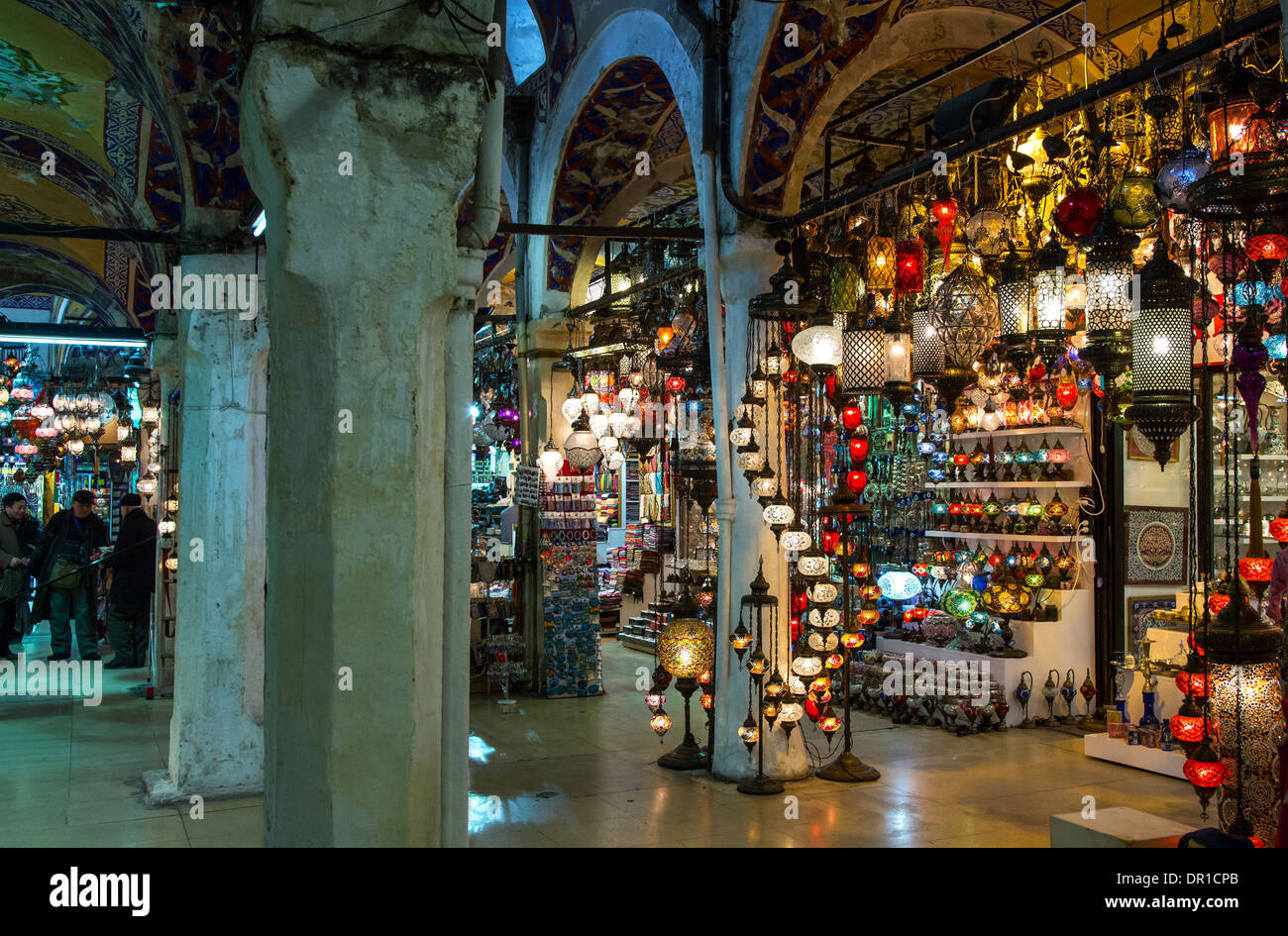 Istanbul, A Colorful Lamp Shop In The Grand Bazaar   Stock Image