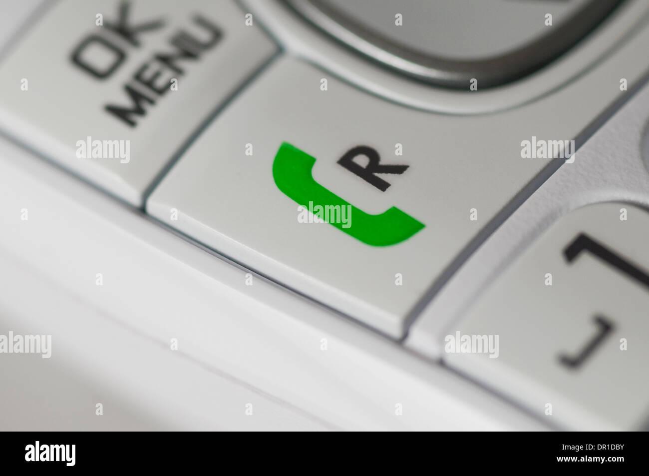 Green Phone Symbol Recall Button Stock Photo 65800671 Alamy