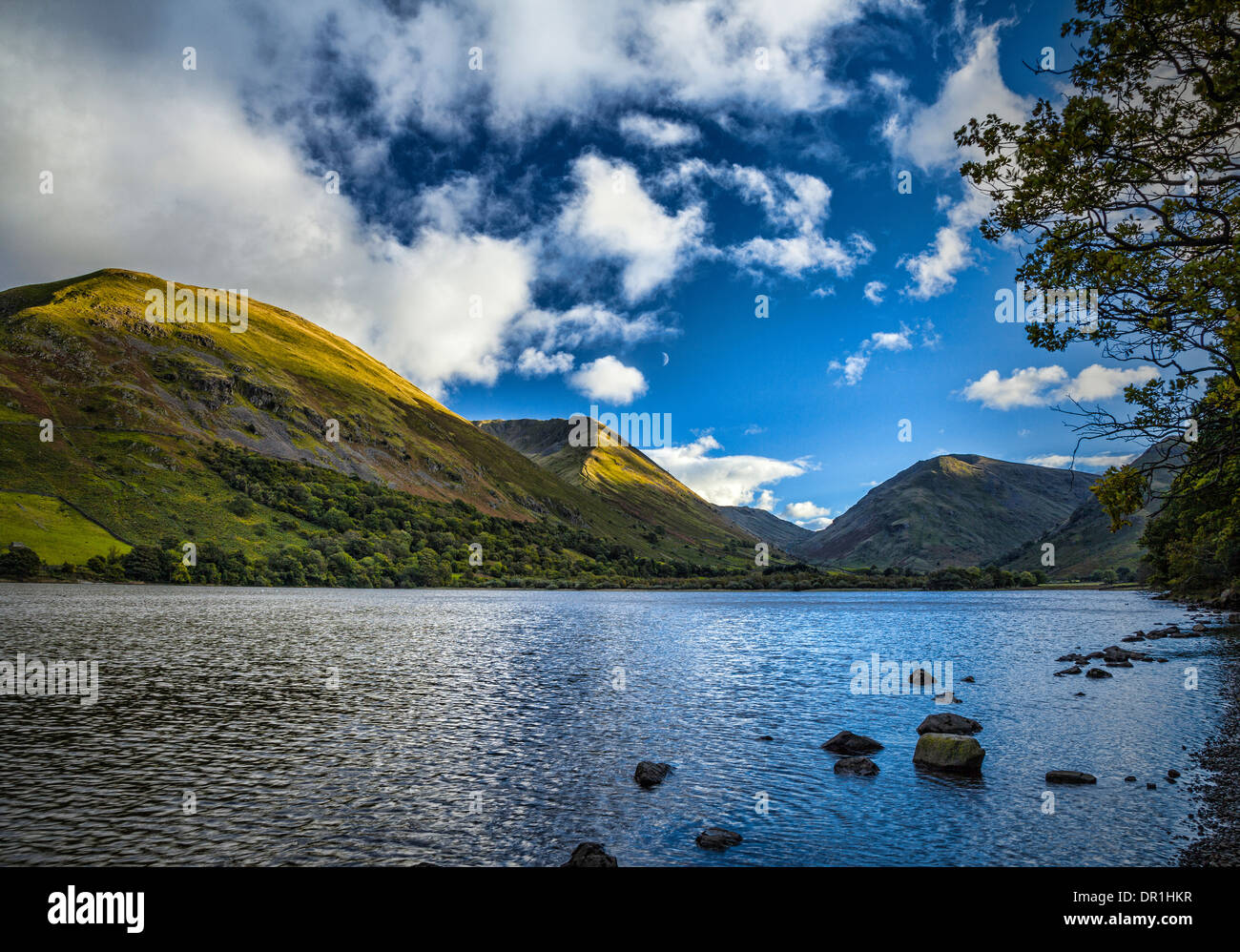 Brotherswater and Hartsop Dodd, Patterdale, Lake District, England - Stock Image