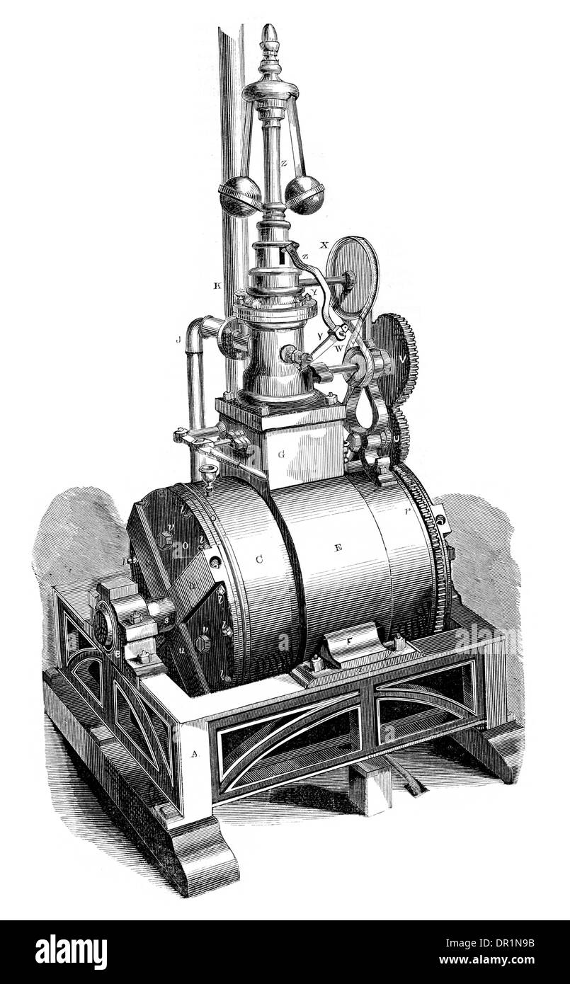 Bristol's Rotary static Steam Engine - Stock Image