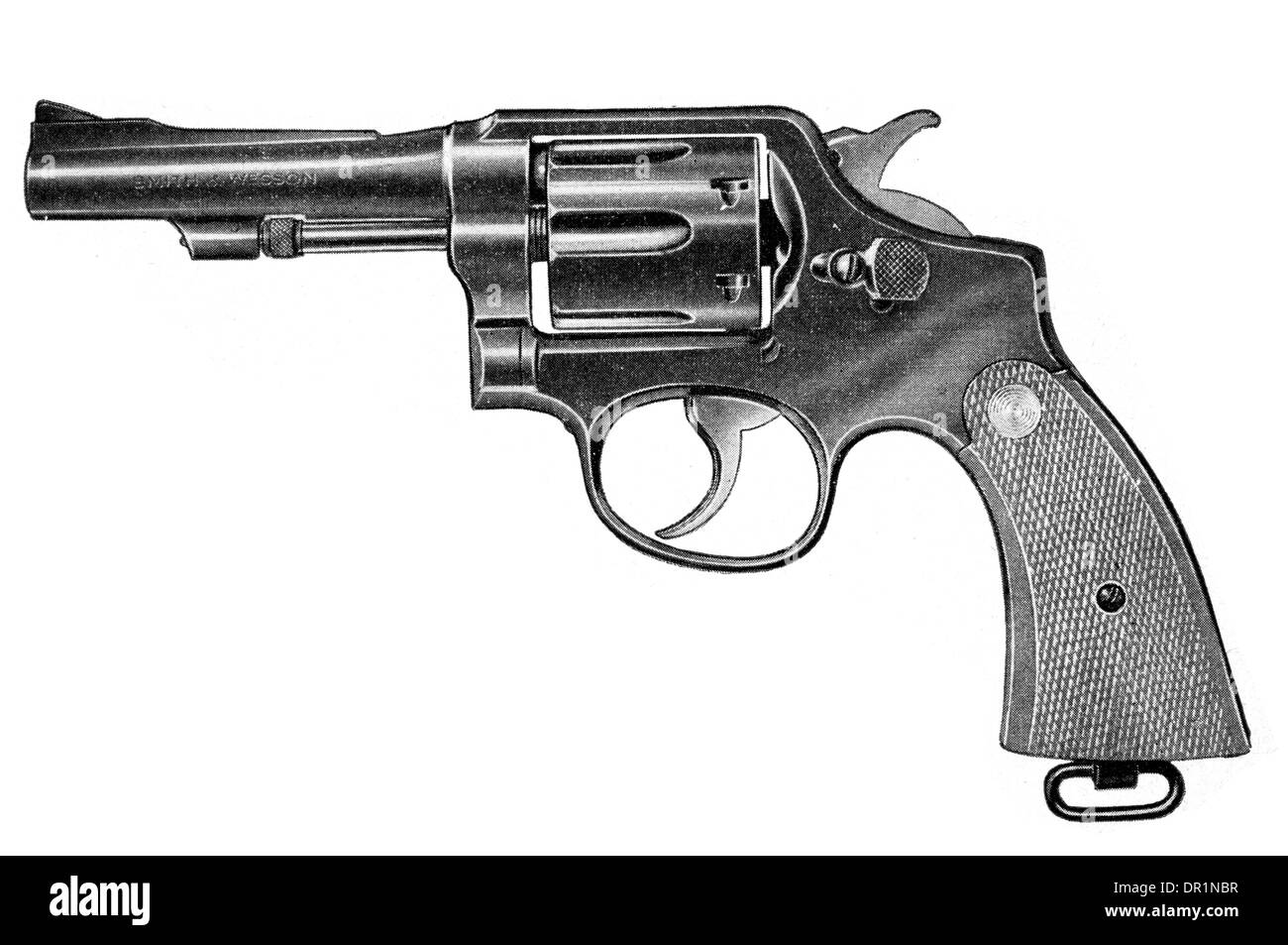Smith and Wesson Military and Police Revolver .38 calibre with shortened barrel - Stock Image