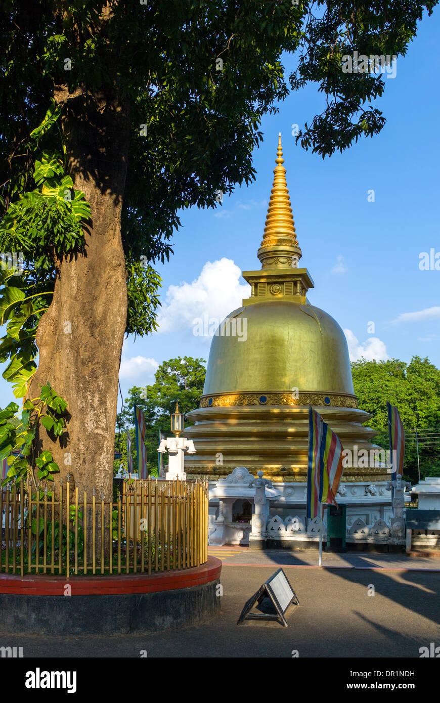 Sri Lanka, Danbulla, a stupa at the entrance of the Golden Temple Stock Photo