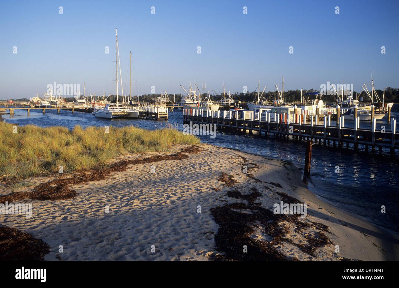Australia, Victoria, Lakes Entrance, the Marina and fishing fleet