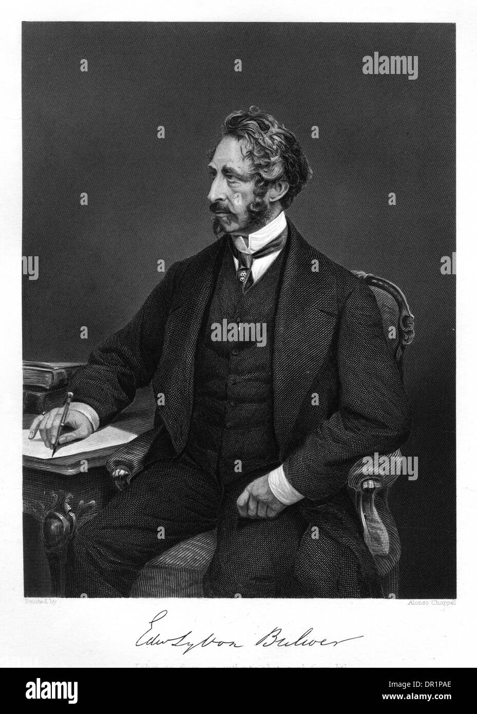 EDWARD BULWER LYTTON Stock Photo
