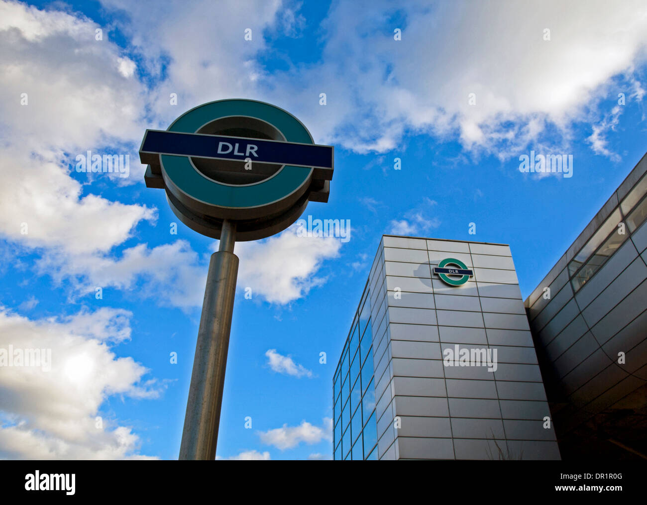 West Silvertown DLR Station, East London, London, England, United Kingdom - Stock Image