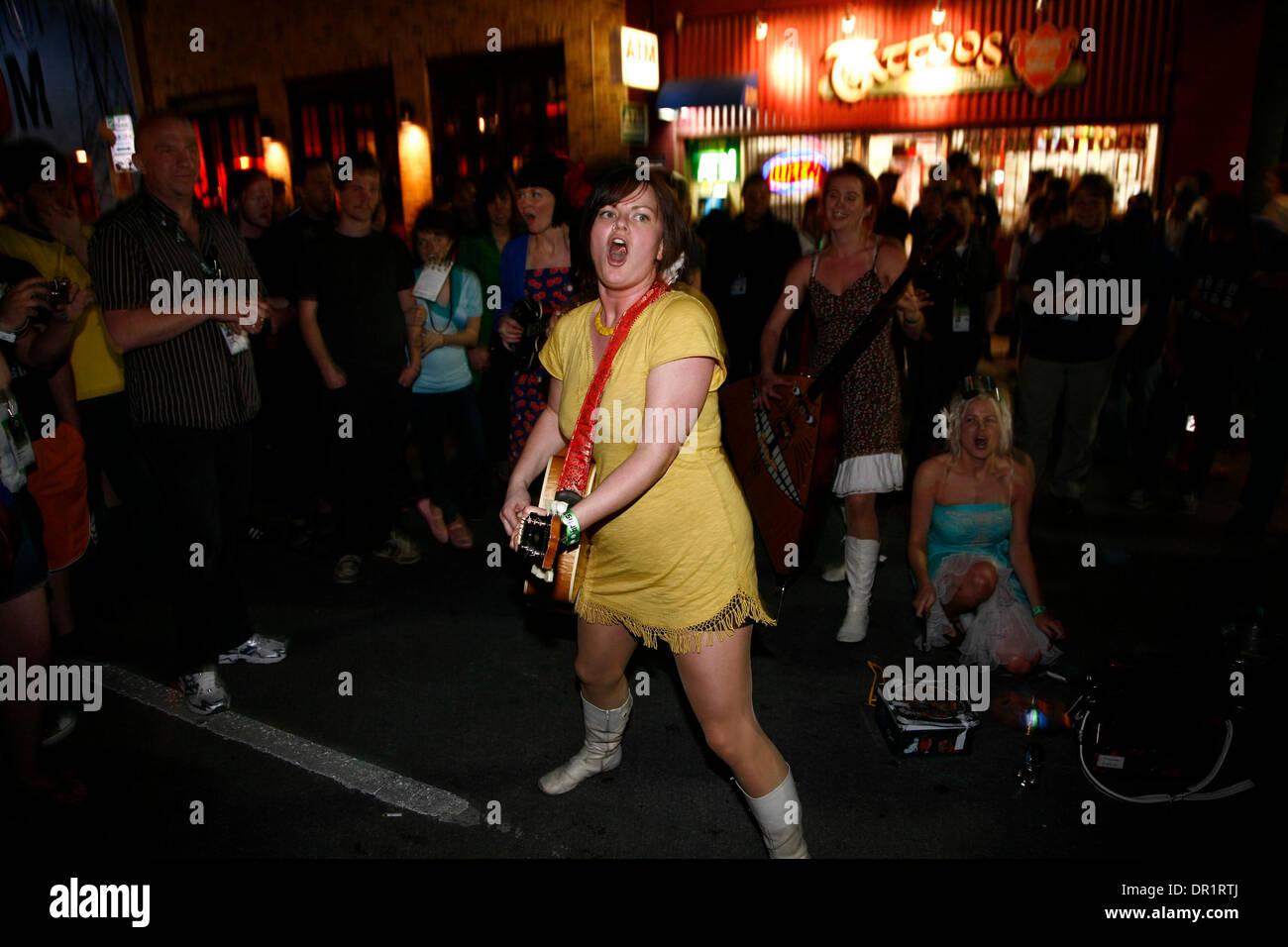 Mar 18, 2009 - Austin, Texas, USA - 'Katzenjammer' performing at Habana Calle during SXSW 2009 - Day One of South By Southwest Music Festival. (Credit Image: © Rahav Segev/ZUMA Press) - Stock Image