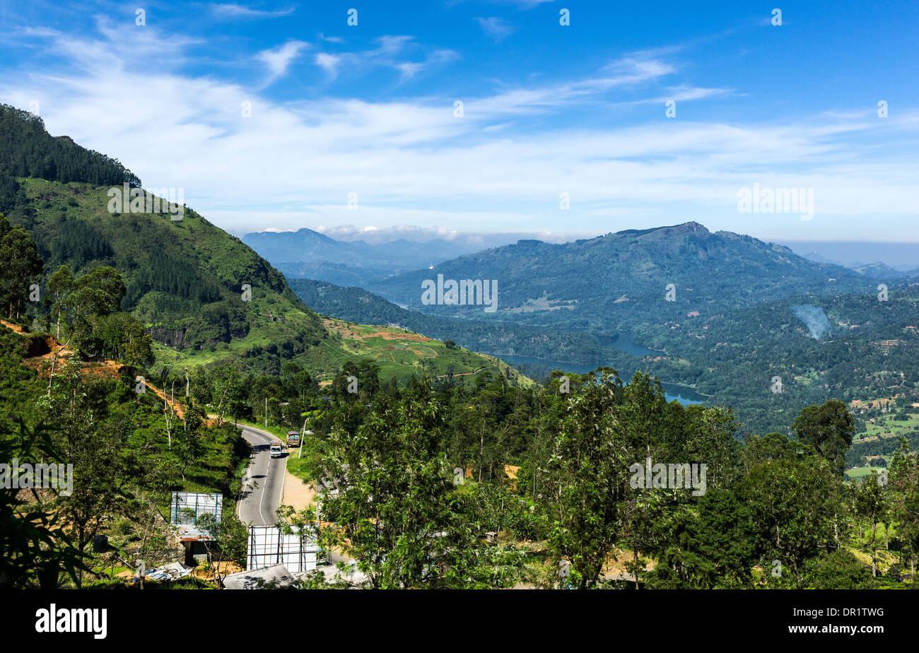 Sri Lanka, landscape of the Ramboda valley Stock Photo