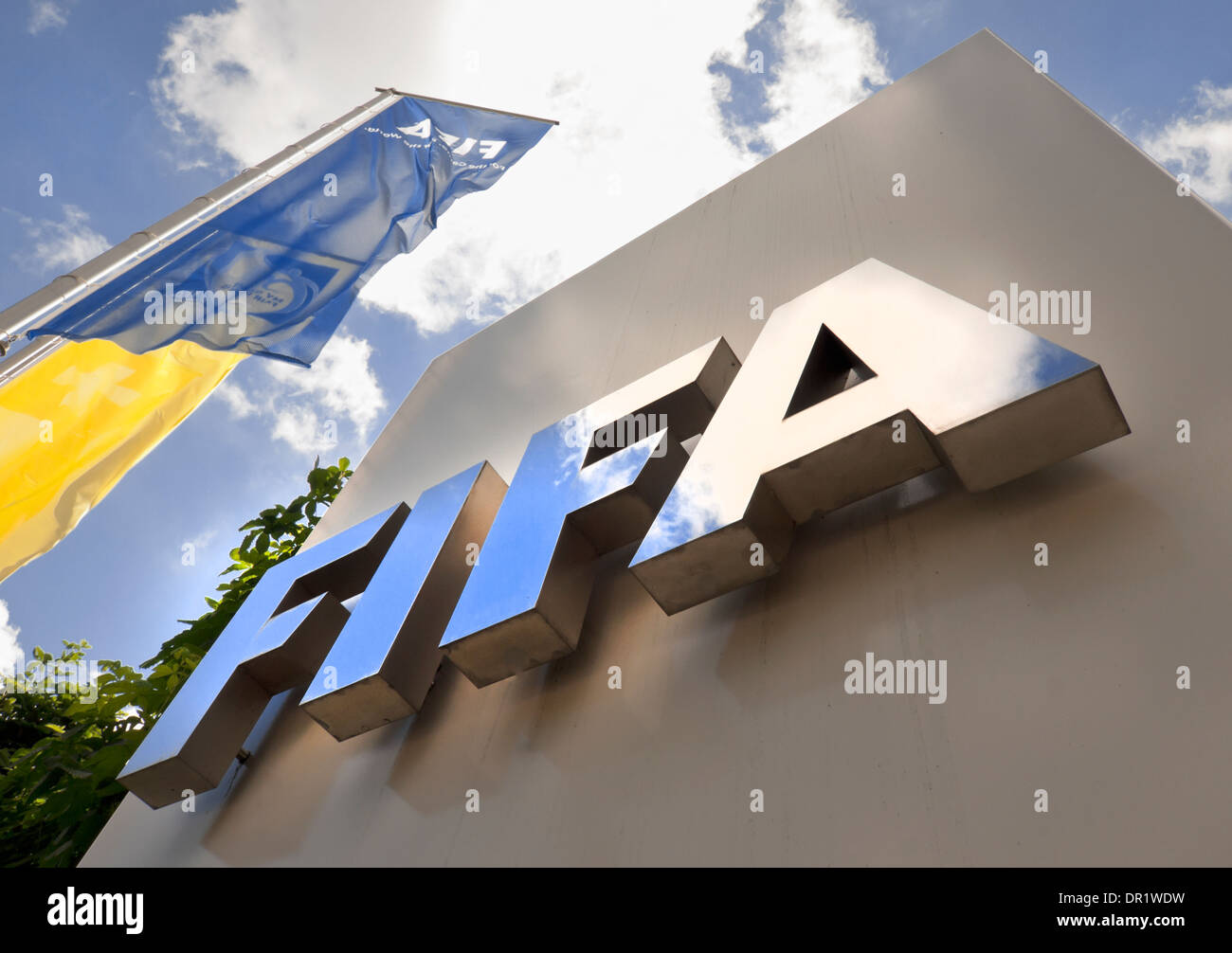 Entrance to the FIFA headquarters in Zurich, Switzerland - Stock Image