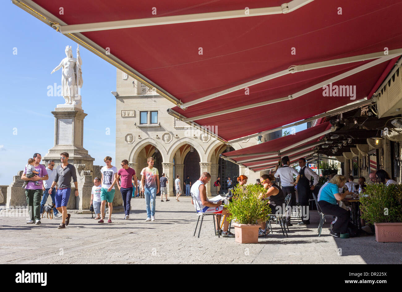 Italy, Emilia Romagna, San Marino, Piazza della Libertà - Stock Image