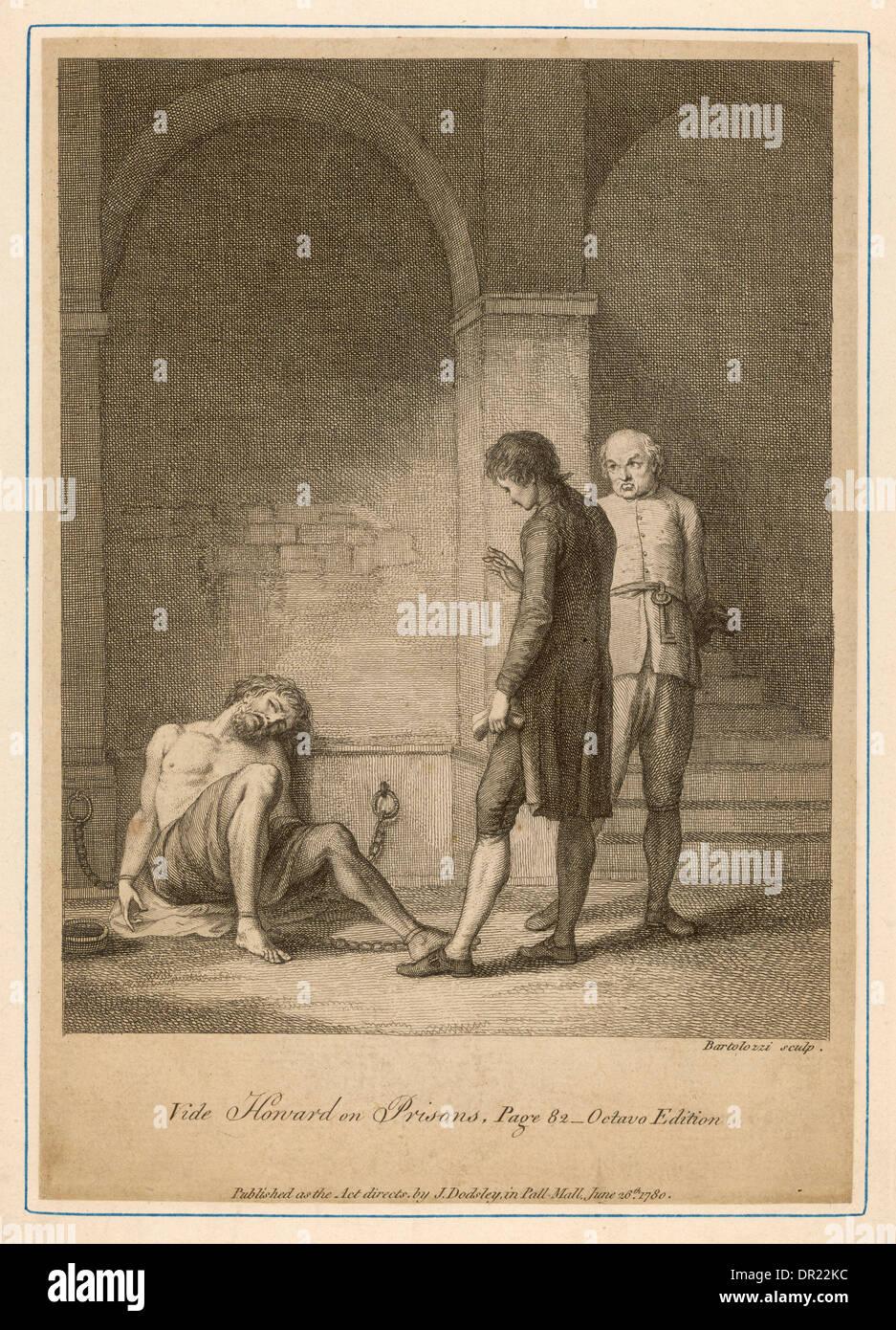 HOWARD VISITS PRISON - Stock Image