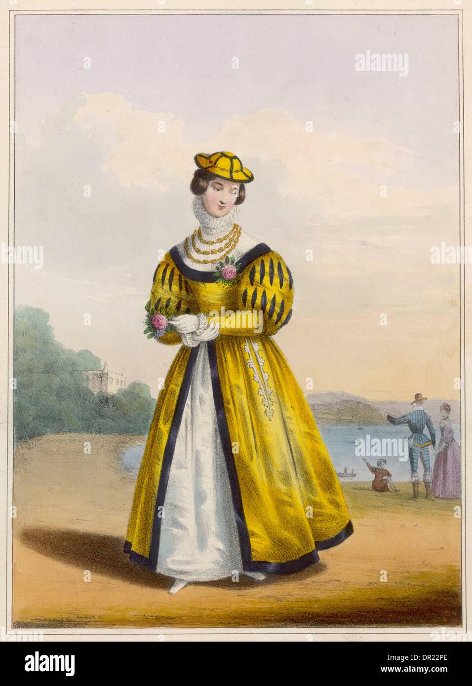 ELIZABETHAN COSTUME - Stock Image