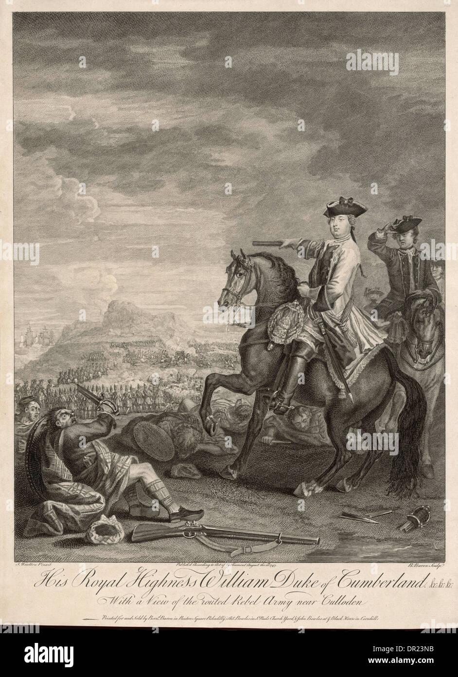 DUKE OF CUMBERLAND - Stock Image