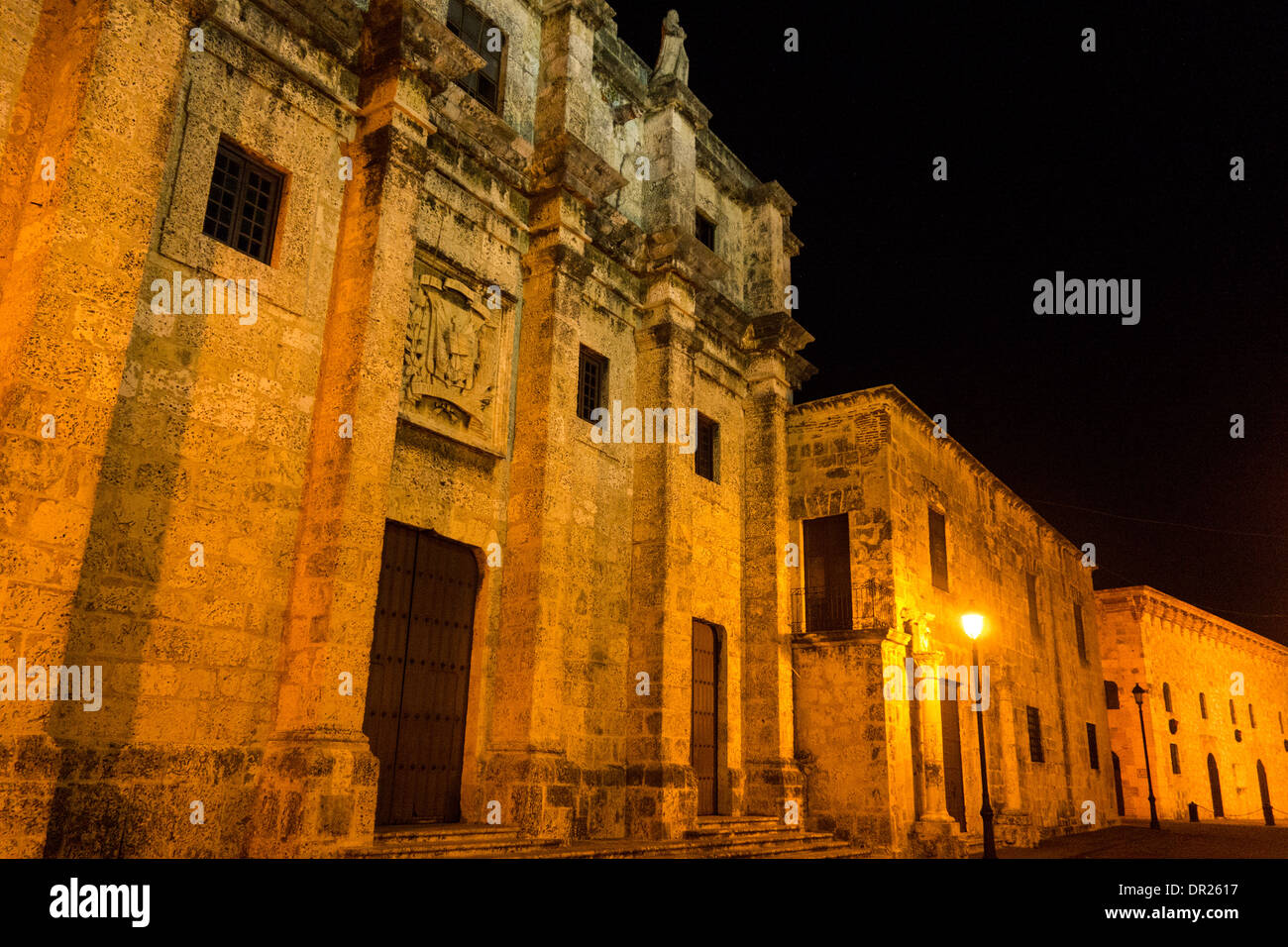 Calle las Damas, the oldes street in the Americas in the Zona Colonial; Santo Domingo; Dominican Republic - Stock Image
