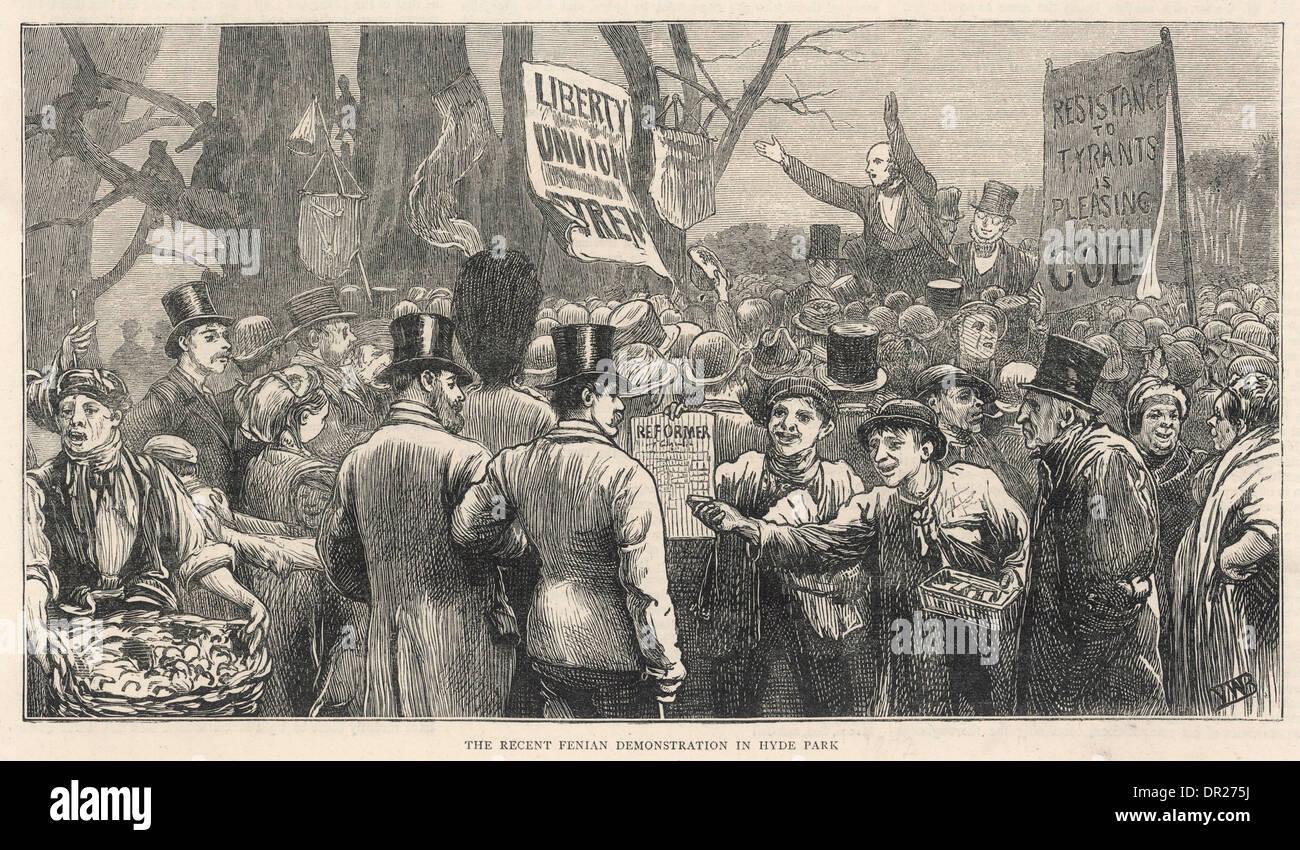FENIAN DEMO 1872 - Stock Image