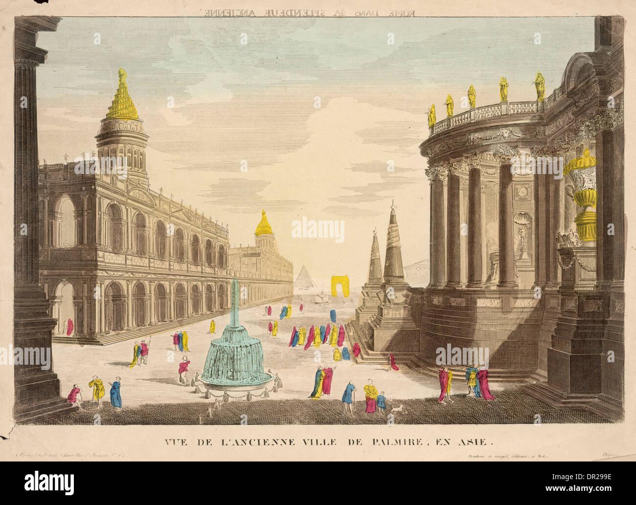 PALMYRA RECONSTRUCTED - Stock Image