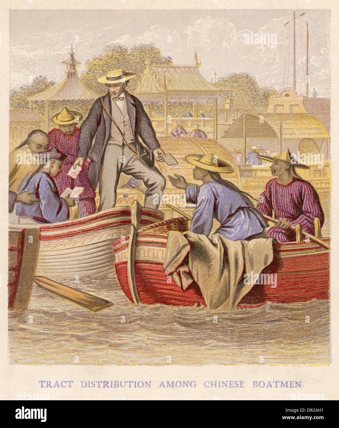 TRACT DISTRIBUTION CHINA - Stock Image