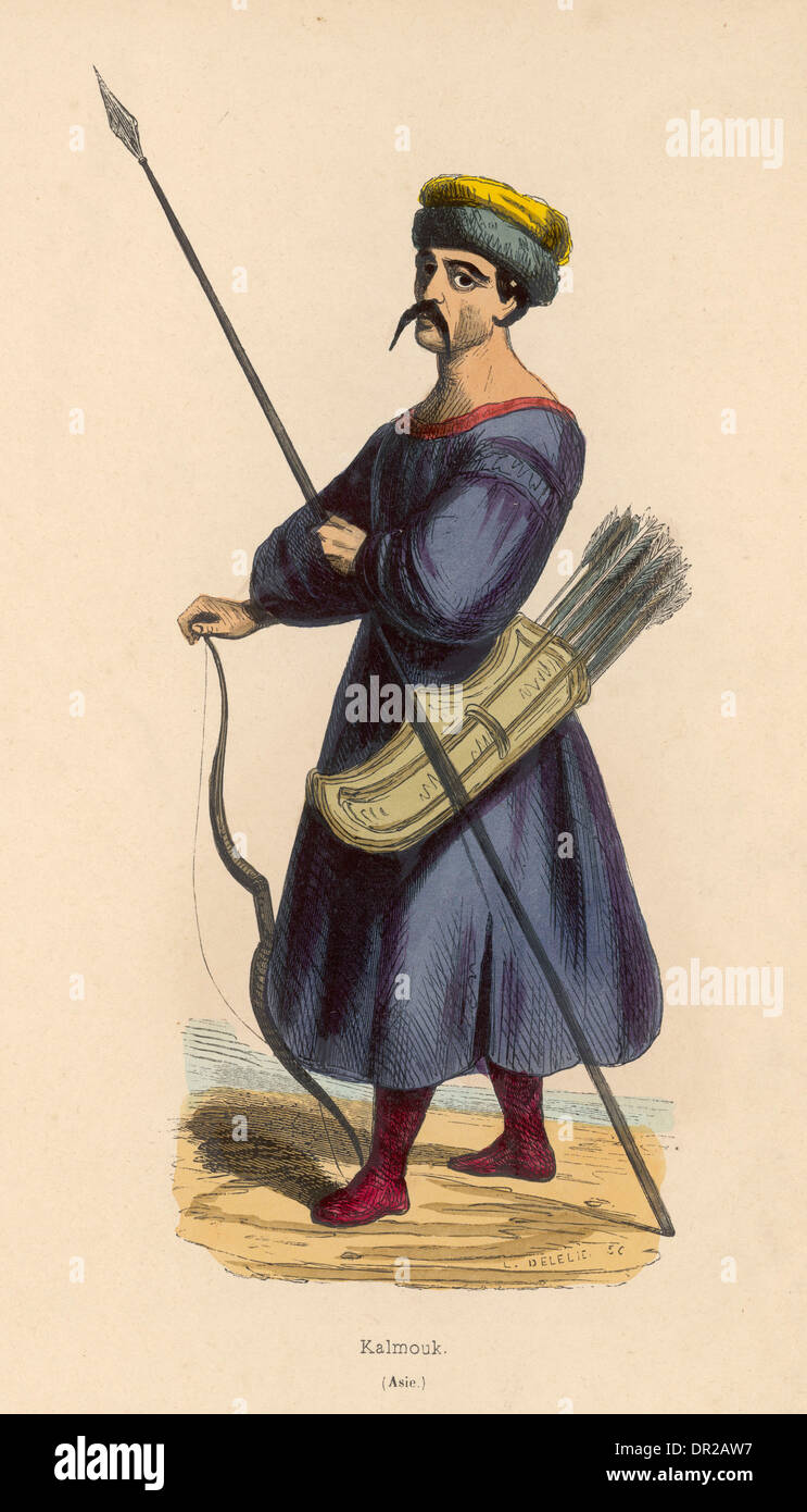 KALMUCK WARRIOR - Stock Image