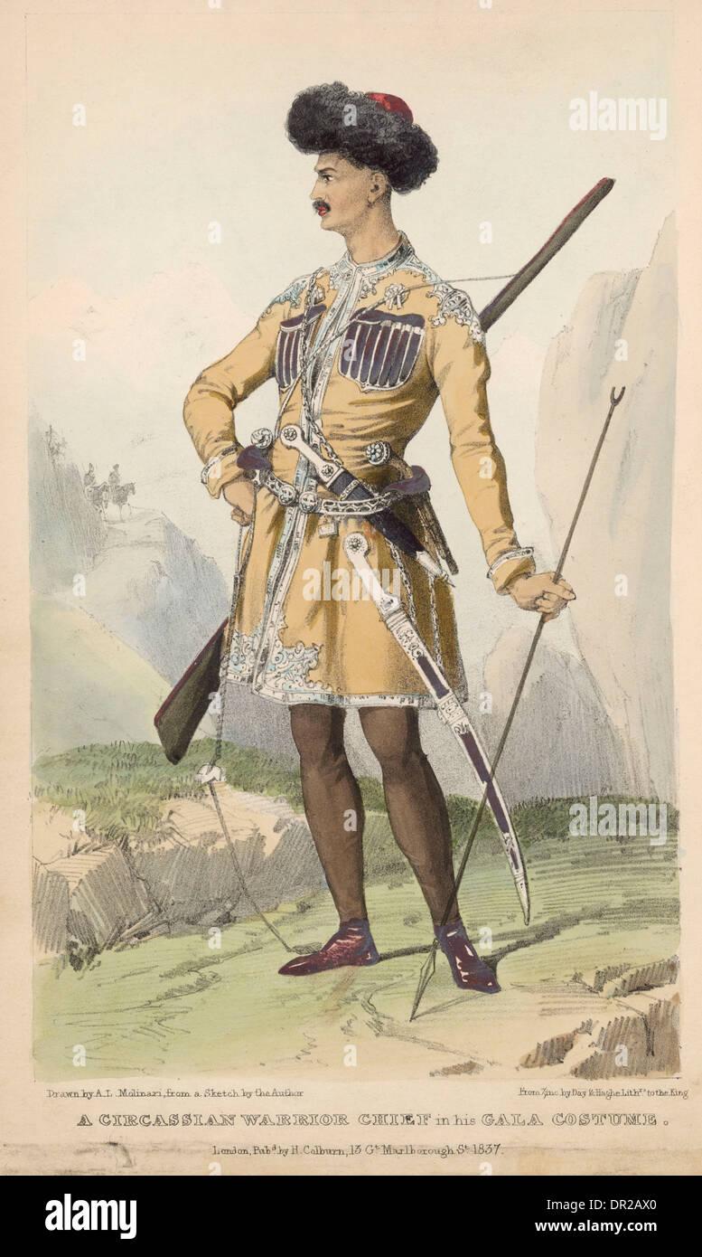 CIRCASSIAN WARRIOR - Stock Image