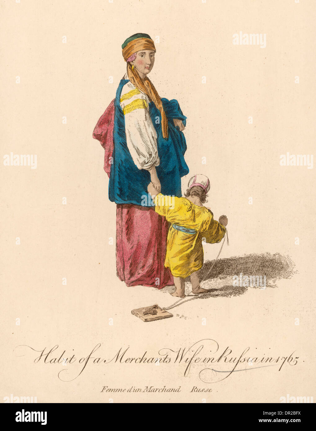 RUSSIAN MERCHANTS WIFE - Stock Image