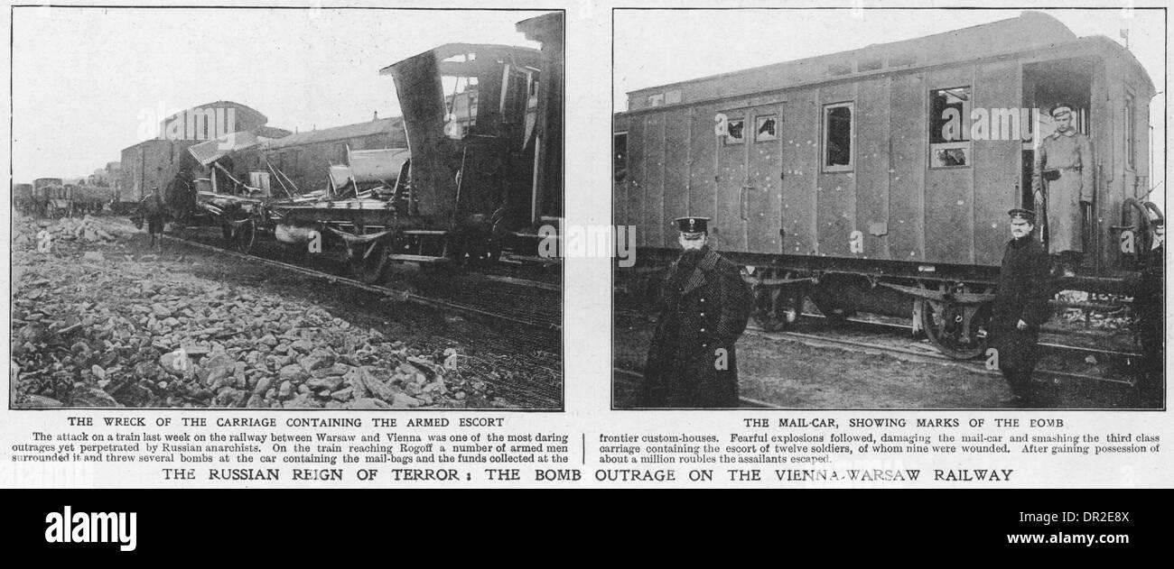 BOMBED TRAIN - Stock Image