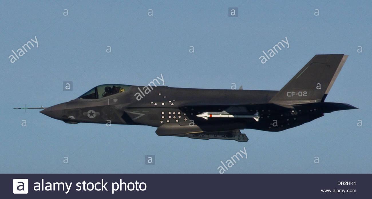 F 35C Lightning II Joint Strike Fighter - Stock Image