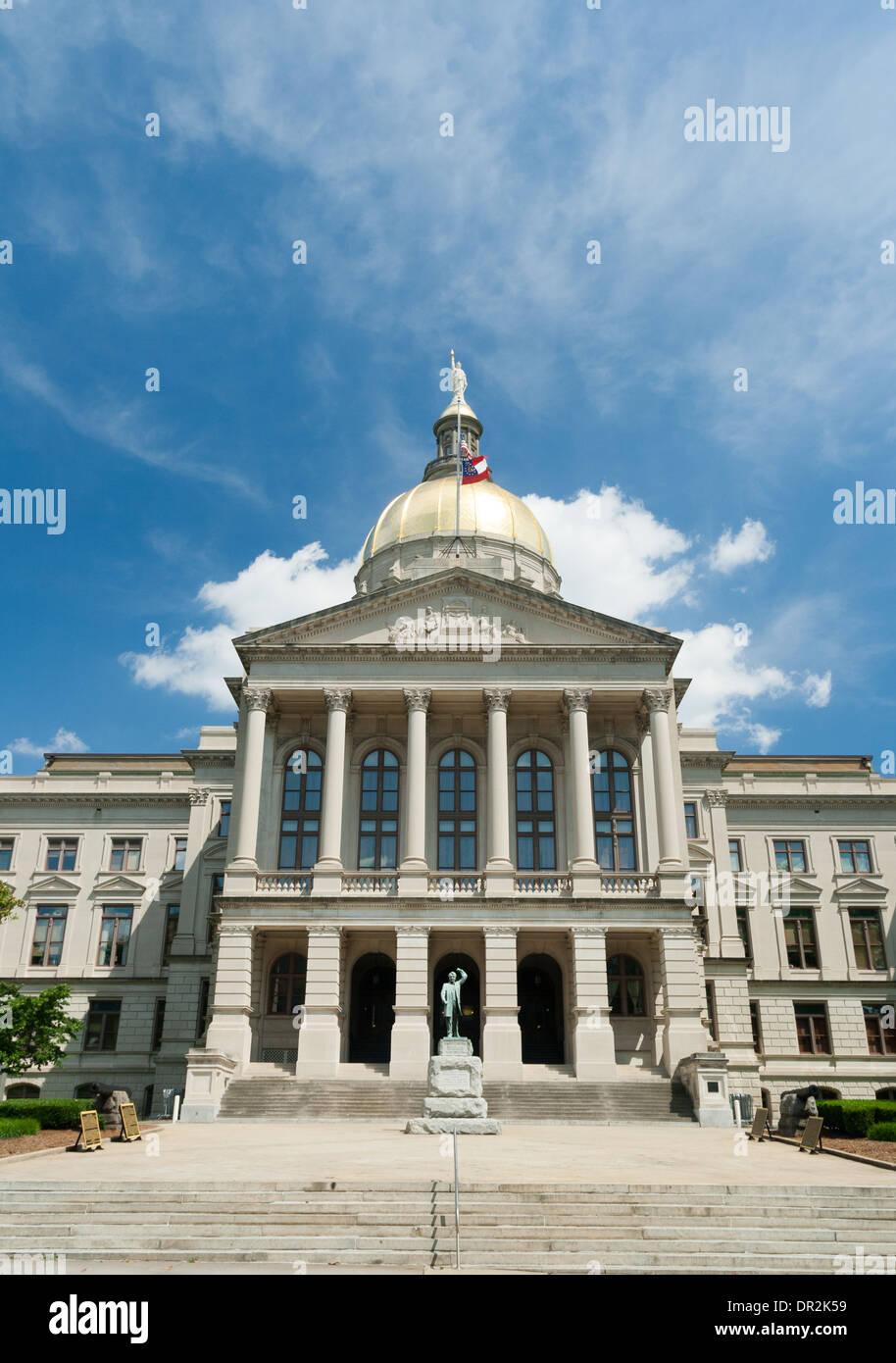 Georgia State Capitol Building, Atlanta, GA - Stock Image