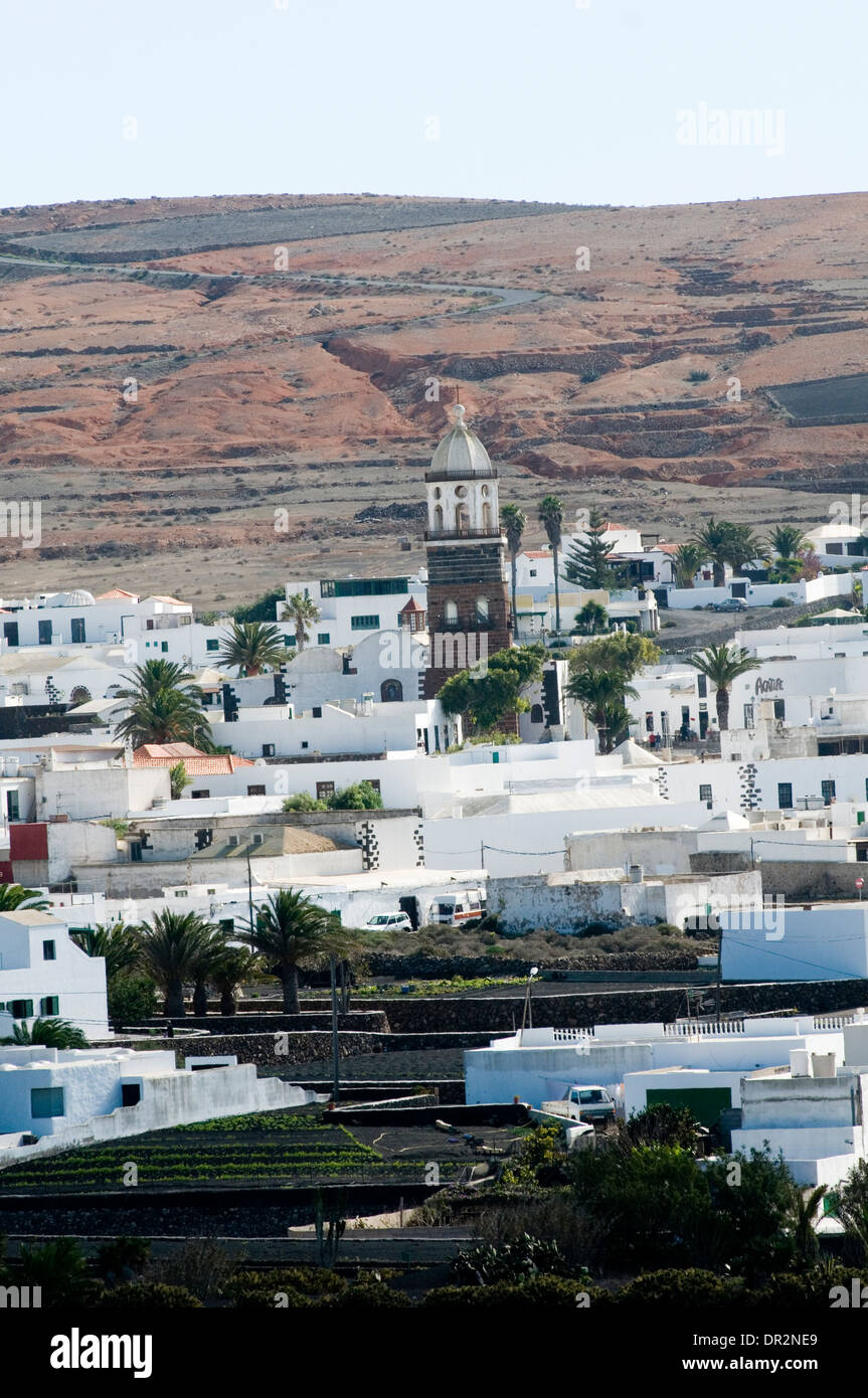 Teguise Lanzarote canary islands canaries island town tourist destinations destination - Stock Image