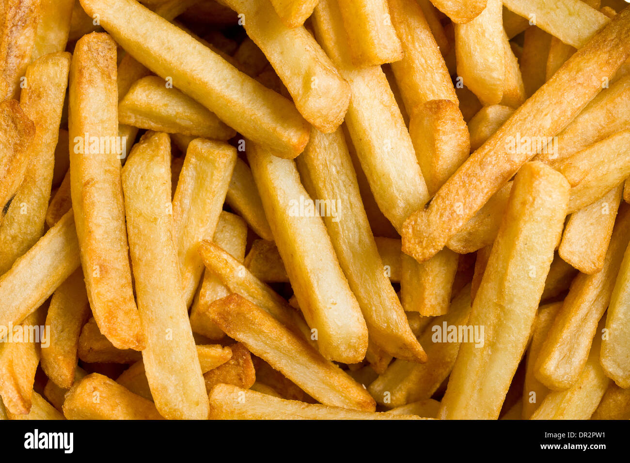 close up of fried french fries - Stock Image