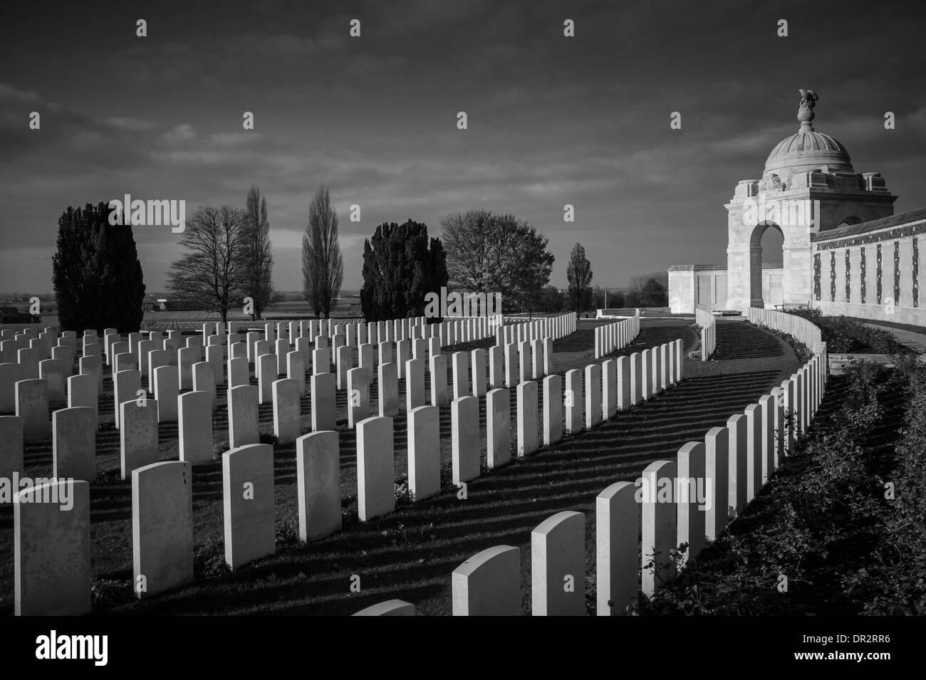 Tyne Cot Commonwealth War Graves Cemetery, Belgium - Stock Image