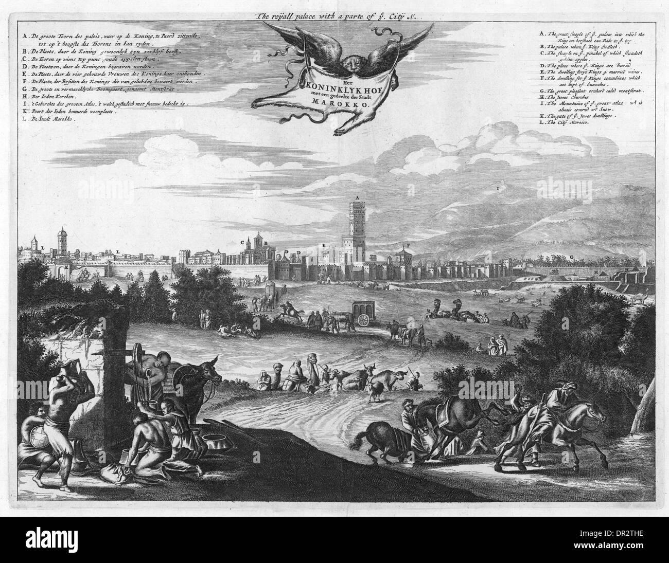MARRAKESH 17TH CENTURY - Stock Image