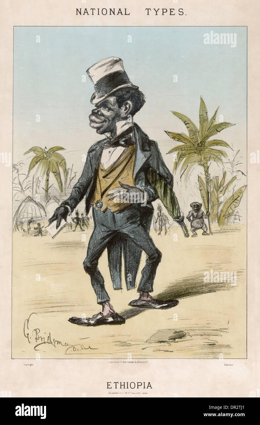 ETHIOPIAN CARICATURE - Stock Image
