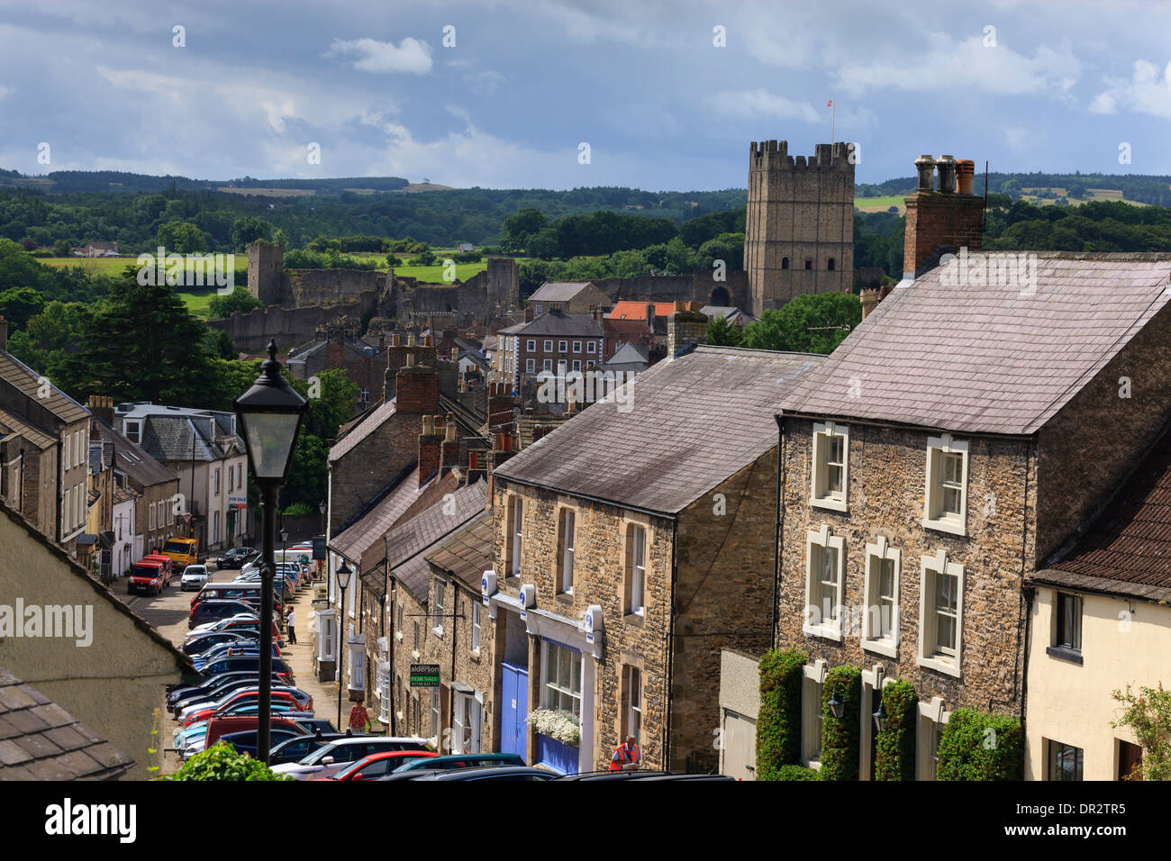 Richmond Castle Richmond North Yorkshire England Stock Photo