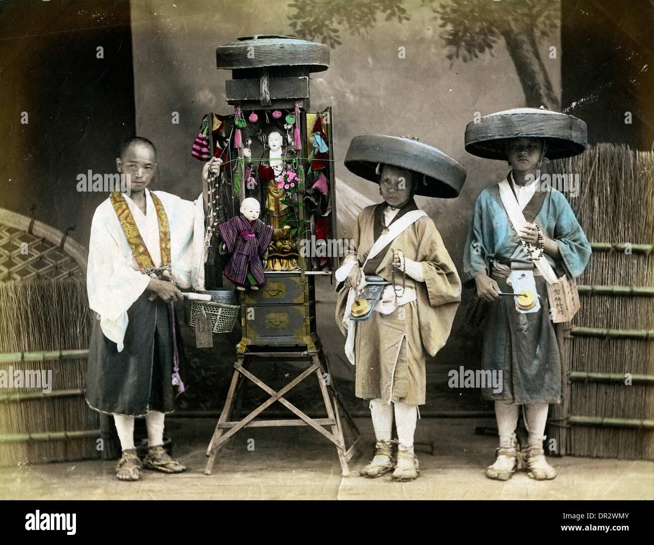 Japanese pilgrims - Stock Image
