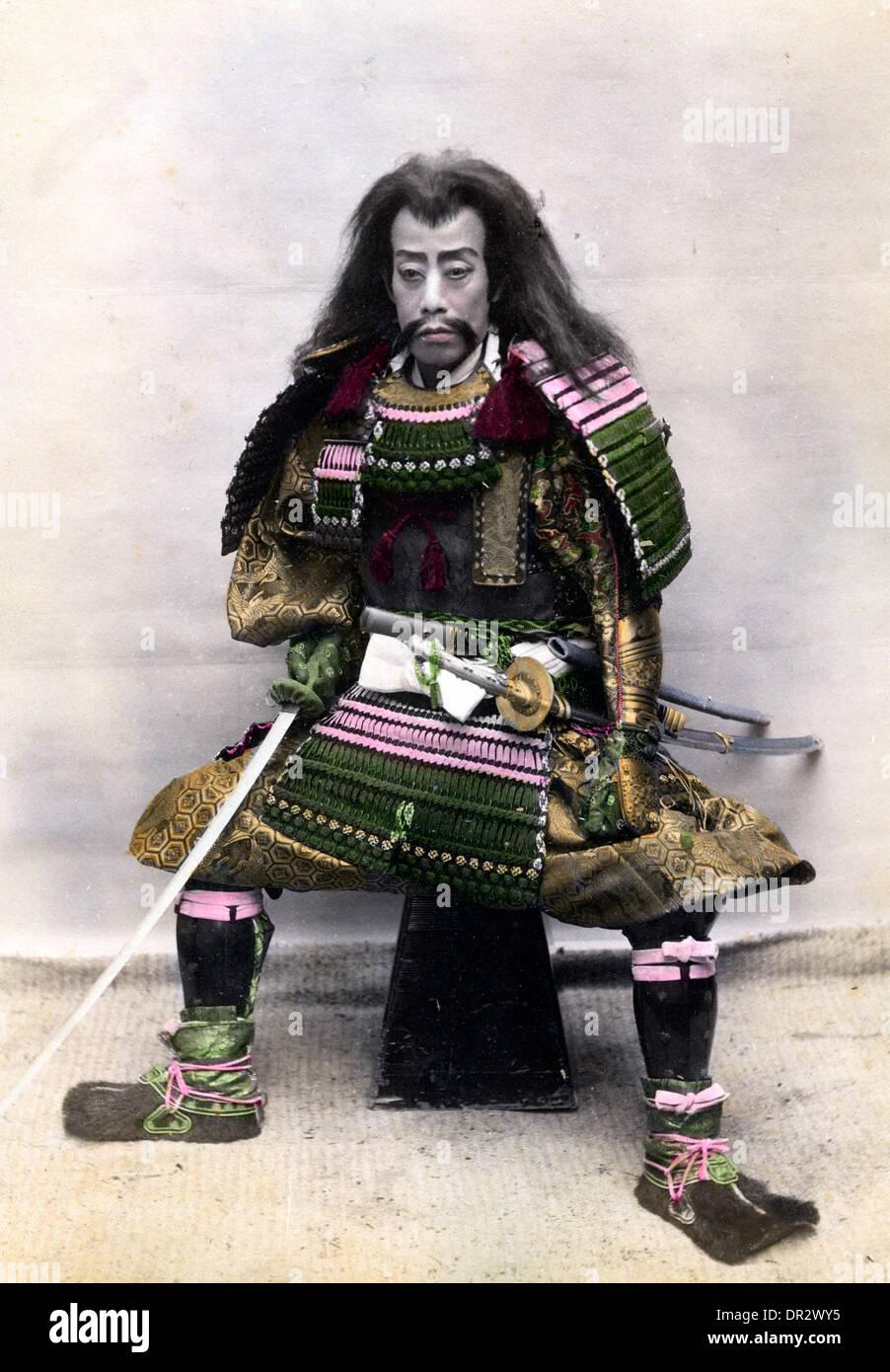 Japanese warrior - Stock Image