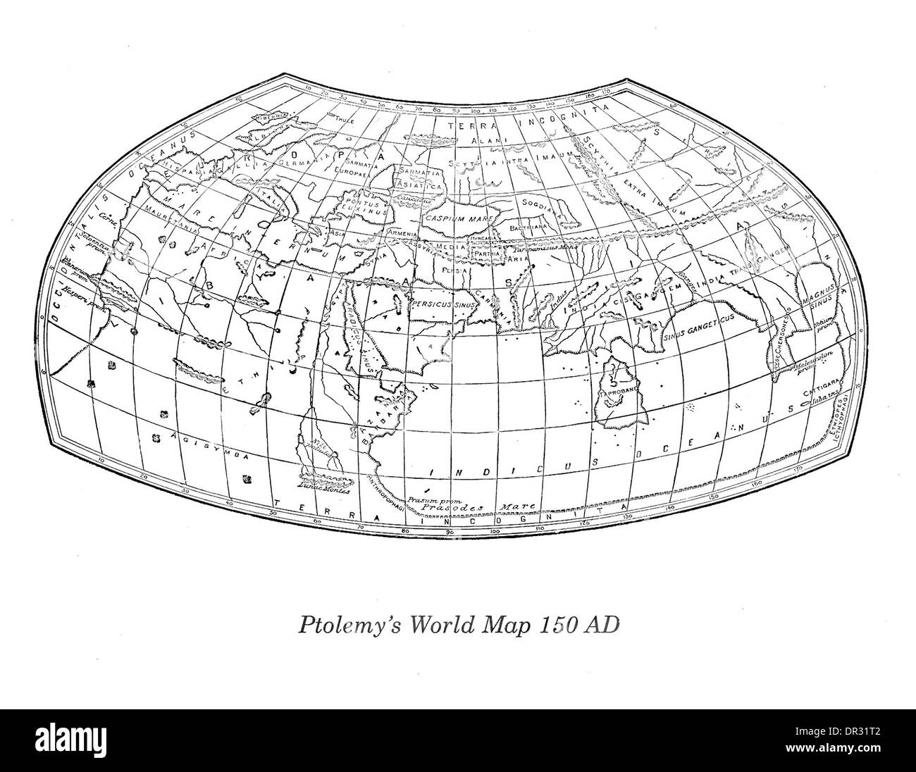 Line Drawing World Map Stock Photos Line Drawing World Map Stock