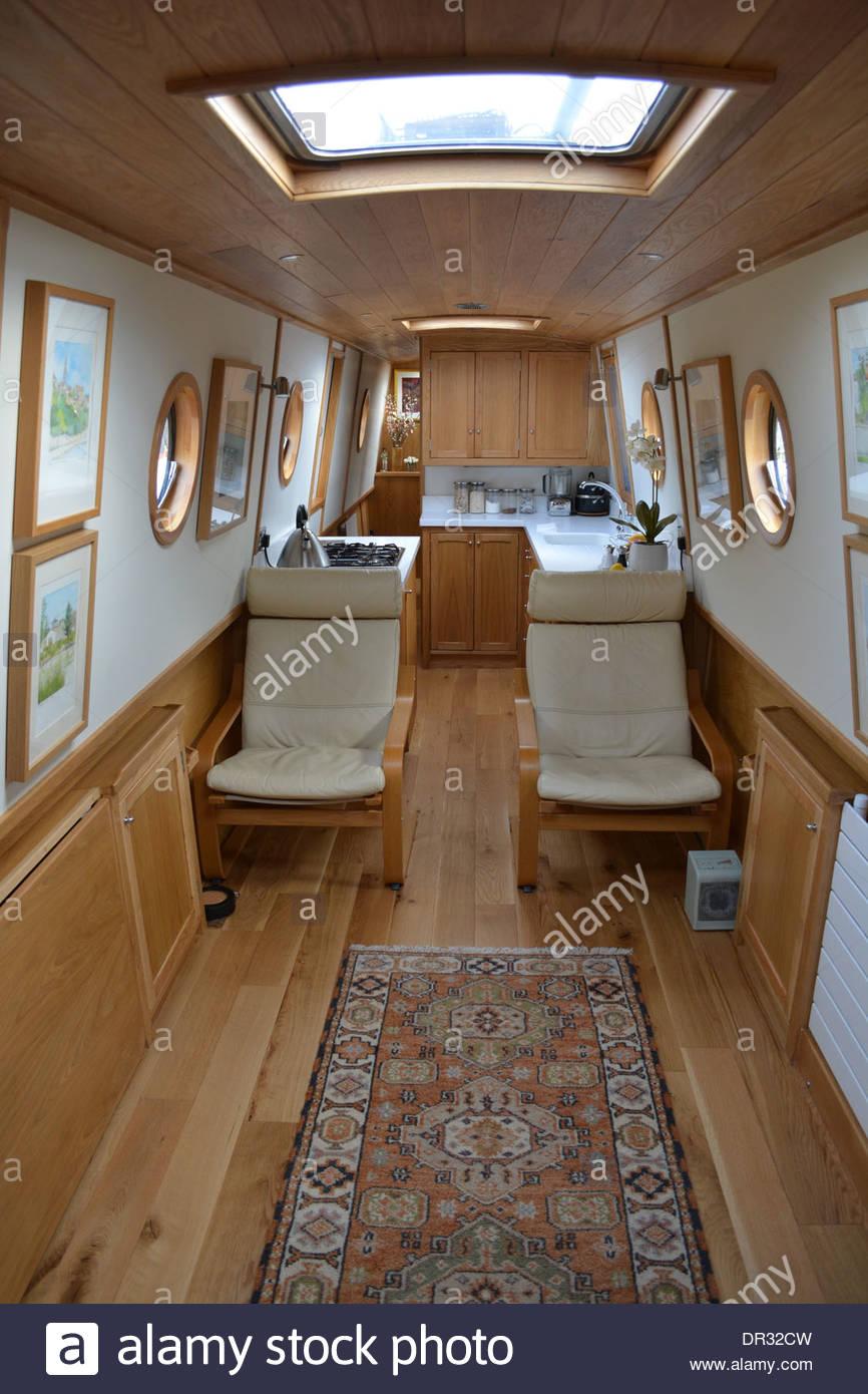 Narrowboat Interior Stock Photos Amp Narrowboat Interior