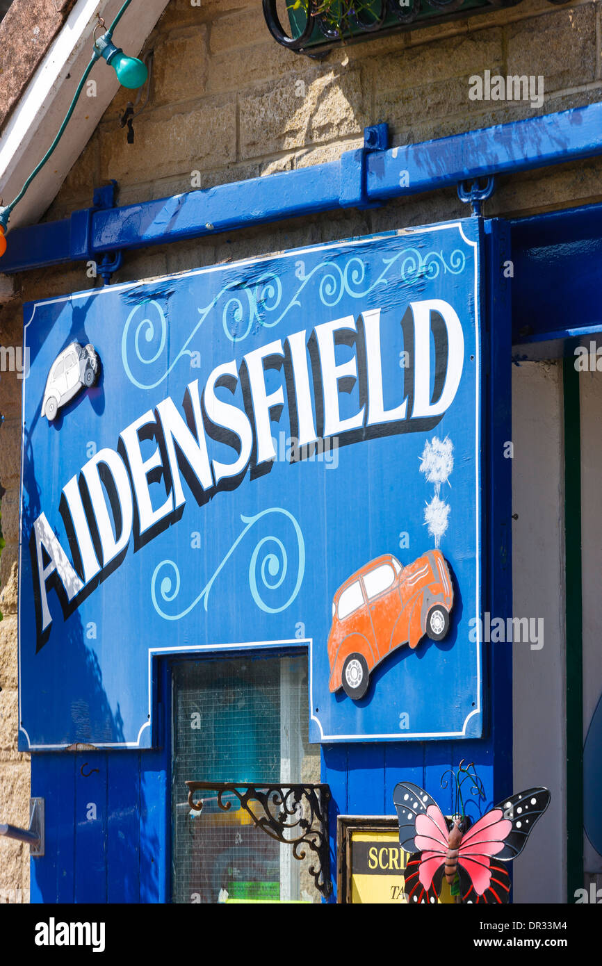 Aidensfield Garage Goathland Scarborough North Yorkshire England - Stock Image
