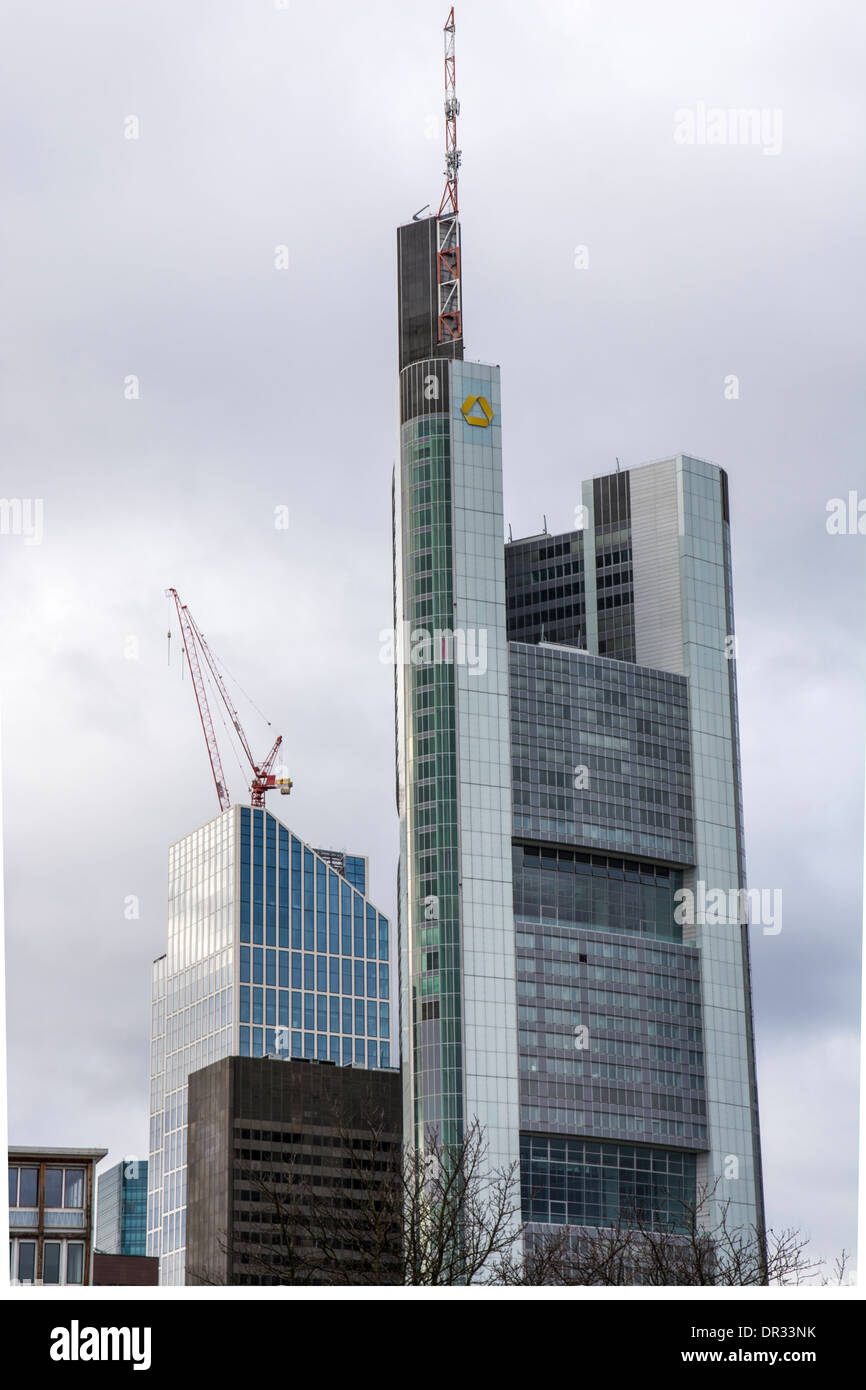 The Commerzbank tower in Frankfurt, Germany Stock Photo