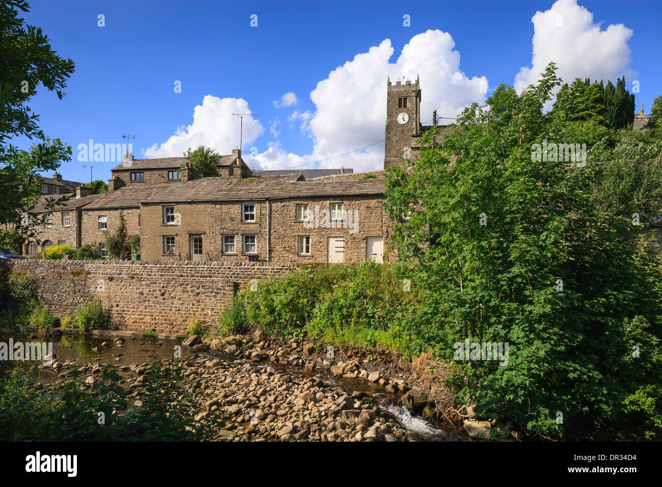 Muker Upper Swaledale Yorkshire Dales National Park Richmondshire North Yorkshire England - Stock Image