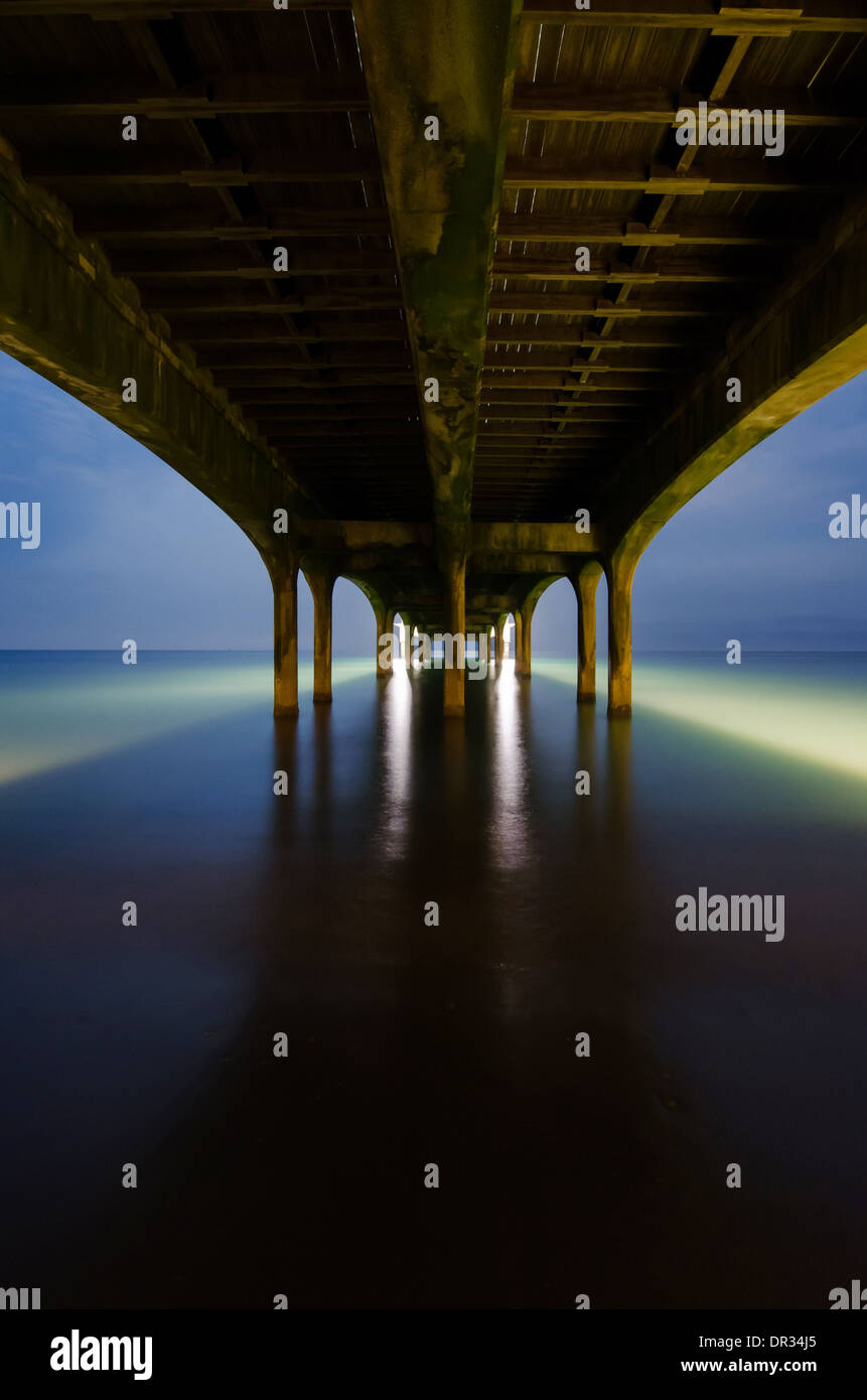 Under Brighton Pier, Brighton, England, UK. - Stock Image