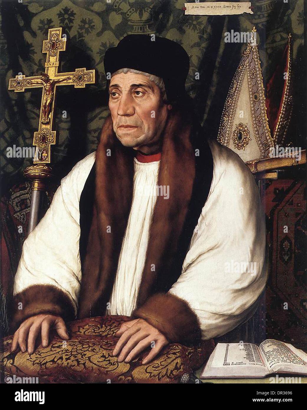 William Warham, Archbishop of Canterbury from 1503 to 1532 - Stock Image