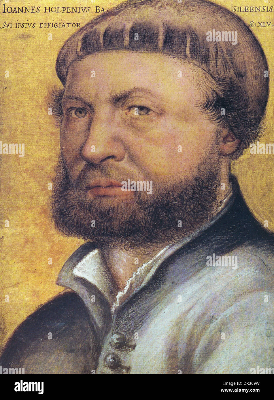 Hans Holbein the Younger, self portrait, German artist - Stock Image