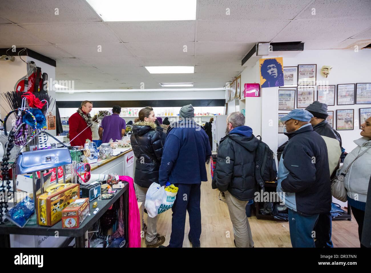 The Lewisham Food Bank in New Cross, London, UK. - Stock Image