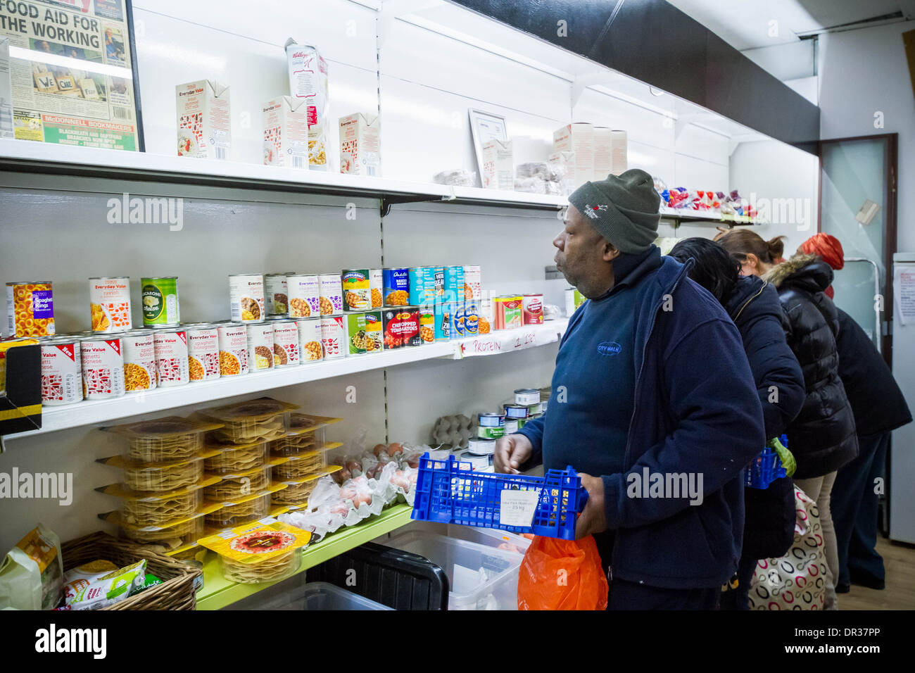The Lewisham Food Bank In New Cross London Uk Stock Photo