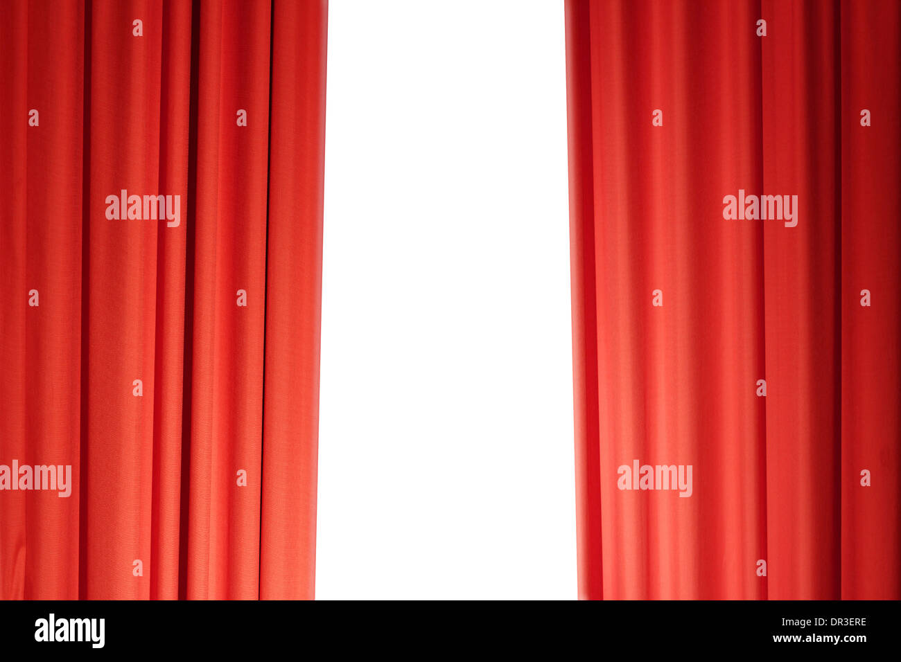 Red Theater Curtain - Stock Image