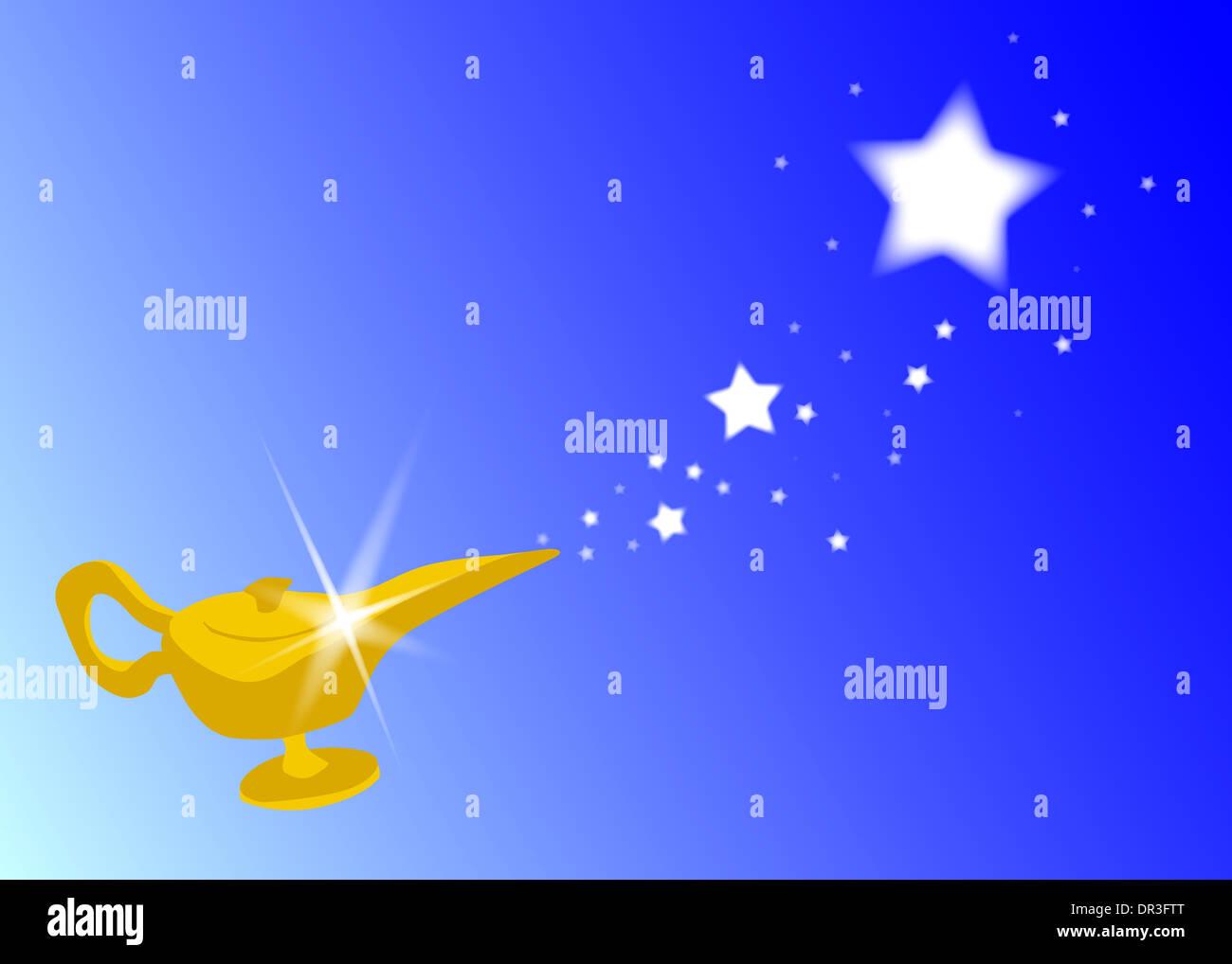The Magic Lamp From The Arabian Nights