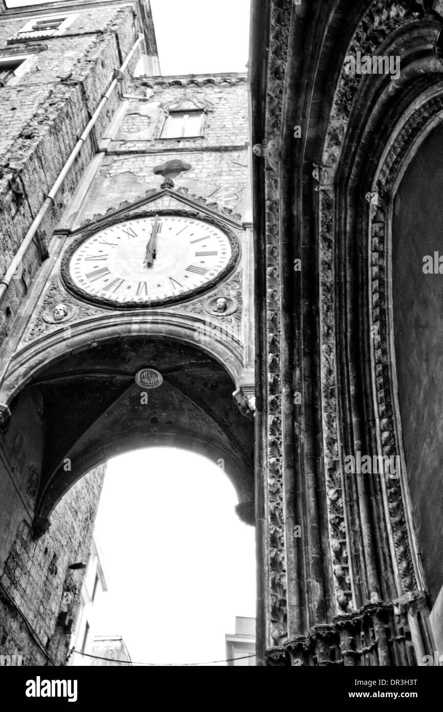 Naples, Church of the Saint Eligio - Stock Image