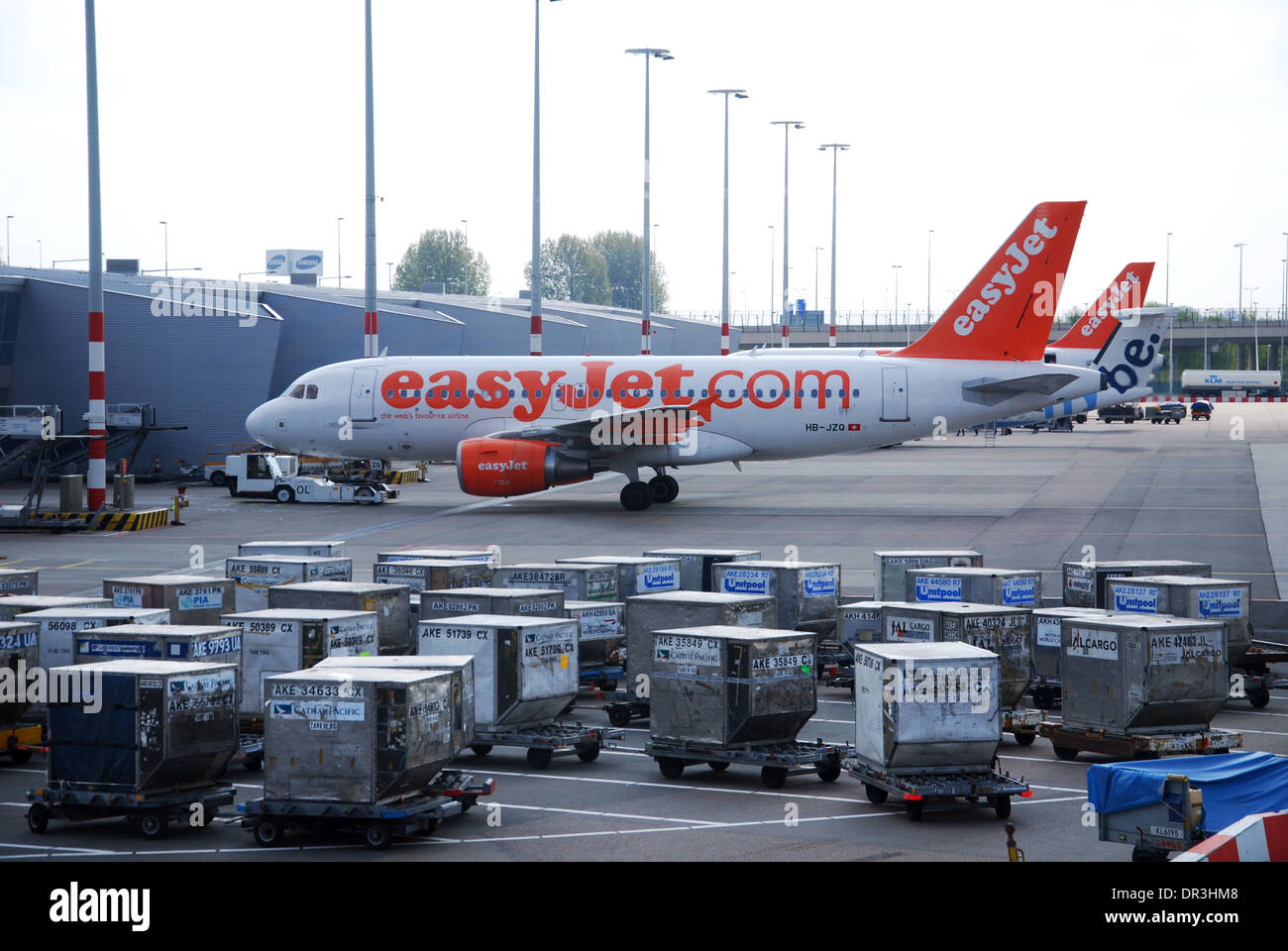 EasyJet Airbus at Schiphol Airport Amsterdam Netherlands - Stock Image