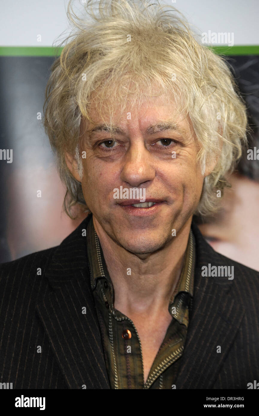 London, UK, 18/01/2014 : Sir Bob Geldof gives the keynote address at a Rockstar Business Incubator. - Stock Image
