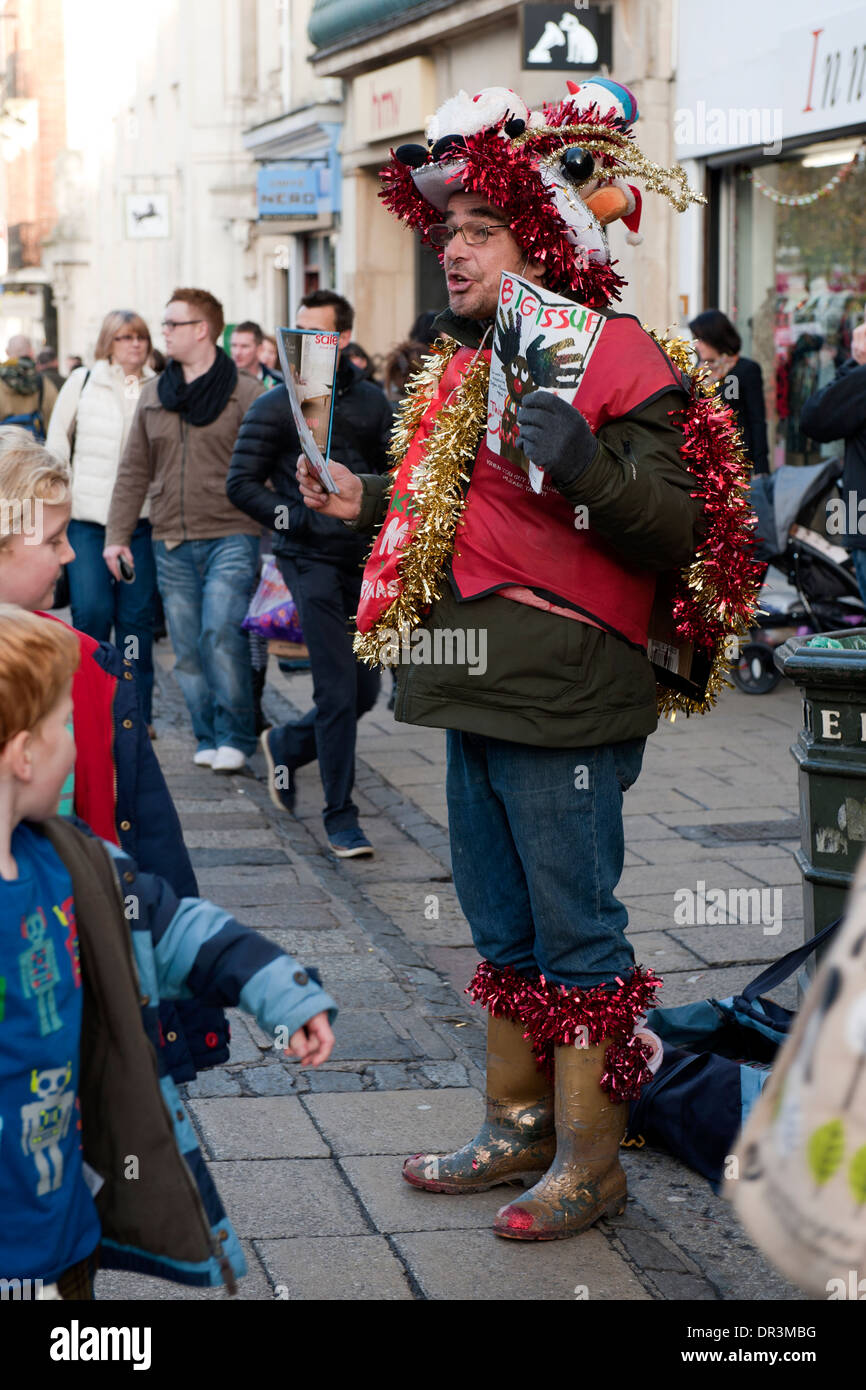 Christmas Shopping in Norwich - Stock Image